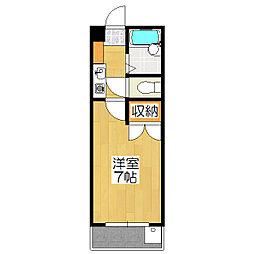 ハイム桃山[1階]の間取り