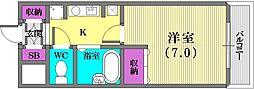 フローラル神戸[701号室]の間取り