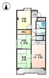 リバーサイドL1[4階]の間取り