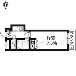 シティコア30朱雀307号室[3階]の間取り