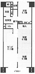 ボナール有堀[305号室]の間取り