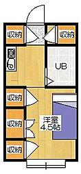シャトードボニータ[4階]の間取り