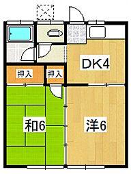 第1城南荘(板橋)[203号室号室]の間取り