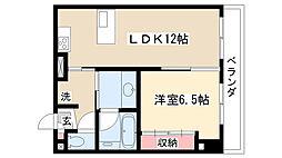 愛知県名古屋市守山区西城2丁目の賃貸マンションの間取り