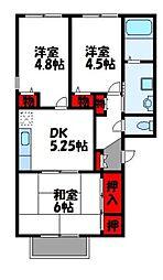 コンフォートMORI A[2階]の間取り