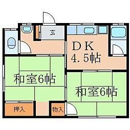 下迫アパート[1階]の間取り