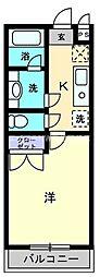 香川県高松市花園町3丁目の賃貸マンションの間取り