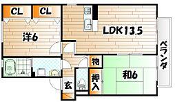 グリーンヒル B棟[2階]の間取り
