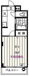 東京都板橋区大谷口上町の賃貸マンションの間取り