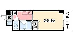 ブランベール甲東園[407号室]の間取り