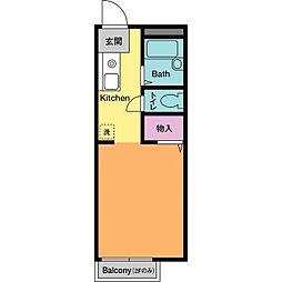 ドミールHASE B[2階]の間取り