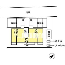 D−room東田中[3階]の外観
