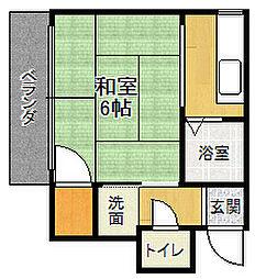 福月マンション[2階]の間取り