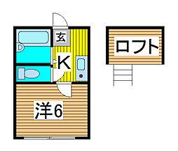 シリウスムサシ[2階]の間取り