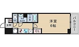 エスリード難波ステーションゲートノーステラス[7階]の間取り