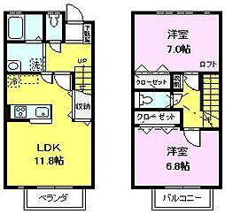 [テラスハウス] 千葉県船橋市西船2丁目 の賃貸【/】の間取り
