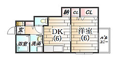 ディア―ヒルズE[1階]の間取り