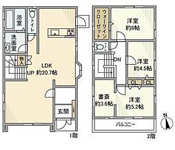 [一戸建] 神奈川県藤沢市遠藤 の賃貸【/】の間取り