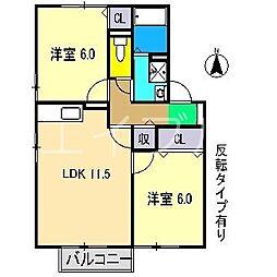 セジュールサヒア[2階]の間取り