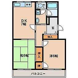 カーサ南茨木[3階]の間取り