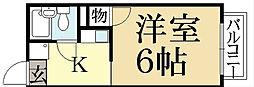ユニメントワカタケ[2階]の間取り