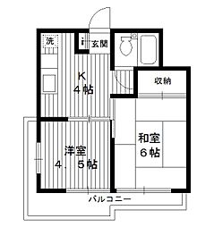 東京都練馬区豊玉中の賃貸マンションの間取り