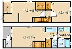 メゾネットクオール[1階]の間取り