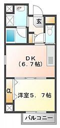 フレール江坂公園[7階]の間取り