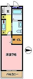 埼玉県さいたま市中央区大戸5丁目の賃貸マンションの間取り