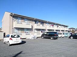 茨城県ひたちなか市大字三反田の賃貸アパートの外観