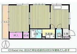 東京都八王子市本郷町の賃貸マンションの間取り