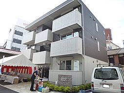 岡山県倉敷市阿知3丁目の賃貸アパートの外観