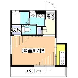 ボンヌシャンス[1階]の間取り