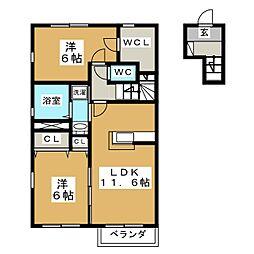 グランシャリオE棟[2階]の間取り