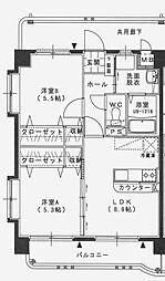 ユーミー和知川原[405号室]の間取り