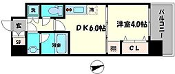 Osaka Metro長堀鶴見緑地線 蒲生四丁目駅 徒歩3分の賃貸マンション 3階1DKの間取り