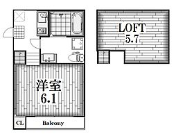 Ottimo黒川[1階]の間取り