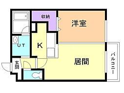 Ruk-A円山(ルクア円山) 5階1DKの間取り