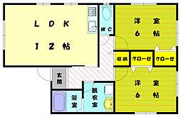 [一戸建] 福岡県古賀市薦野 の賃貸【/】の間取り