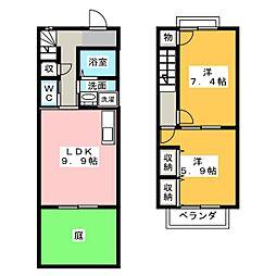 [テラスハウス] 静岡県袋井市浅羽 の賃貸【/】の間取り