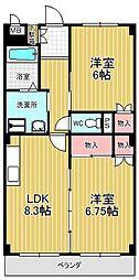 レザンヴェール鎌倉台[1階]の間取り