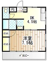 神奈川県相模原市南区南台4の賃貸マンションの間取り