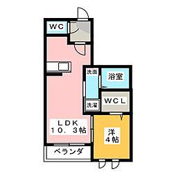 ツインメゾン本郷B[2階]の間取り