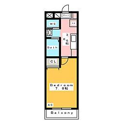 Kビル横山[1階]の間取り