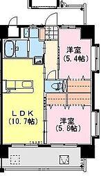 (仮称)神宮外苑 東棟[601号室]の間取り