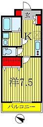 ポワール・K[605号室]の間取り