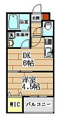 ロイヤルクオーター 1階1DKの間取り