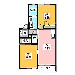 フォーレスシオン[2階]の間取り