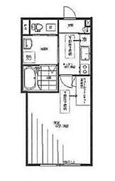 京成押上線 京成曳舟駅 徒歩3分の賃貸アパート 1階1Kの間取り