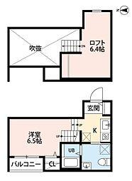イーナ野芥[1階]の間取り
